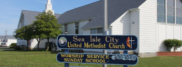 Sea Isle City Methodist Church outside sign
