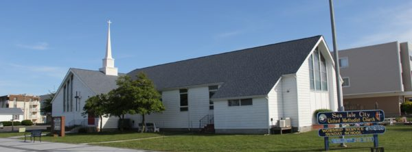 Sea Isle City Methodist Church outside