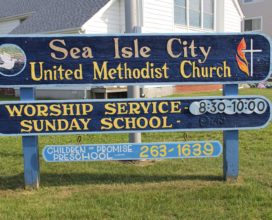 Sea Isle City Methodist Church outside sign