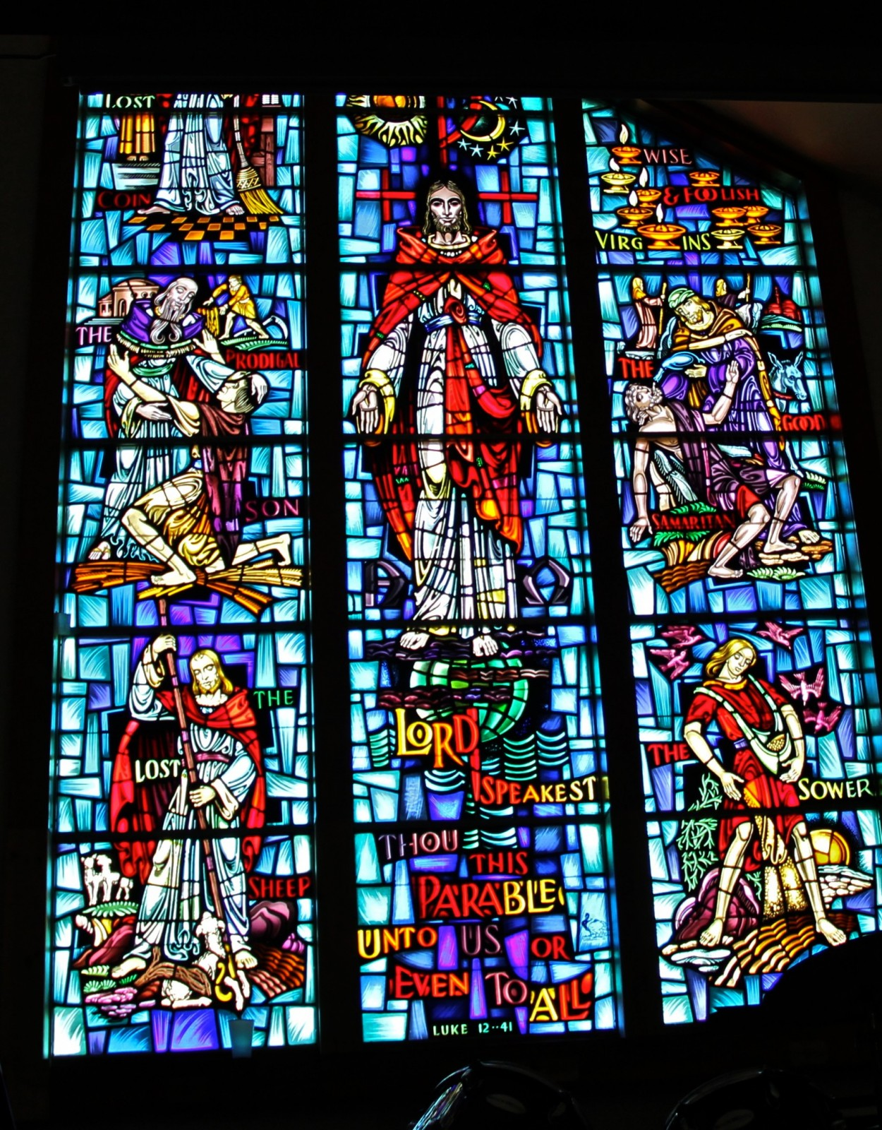 Sea Isle City Methodist Church stained glass window parables