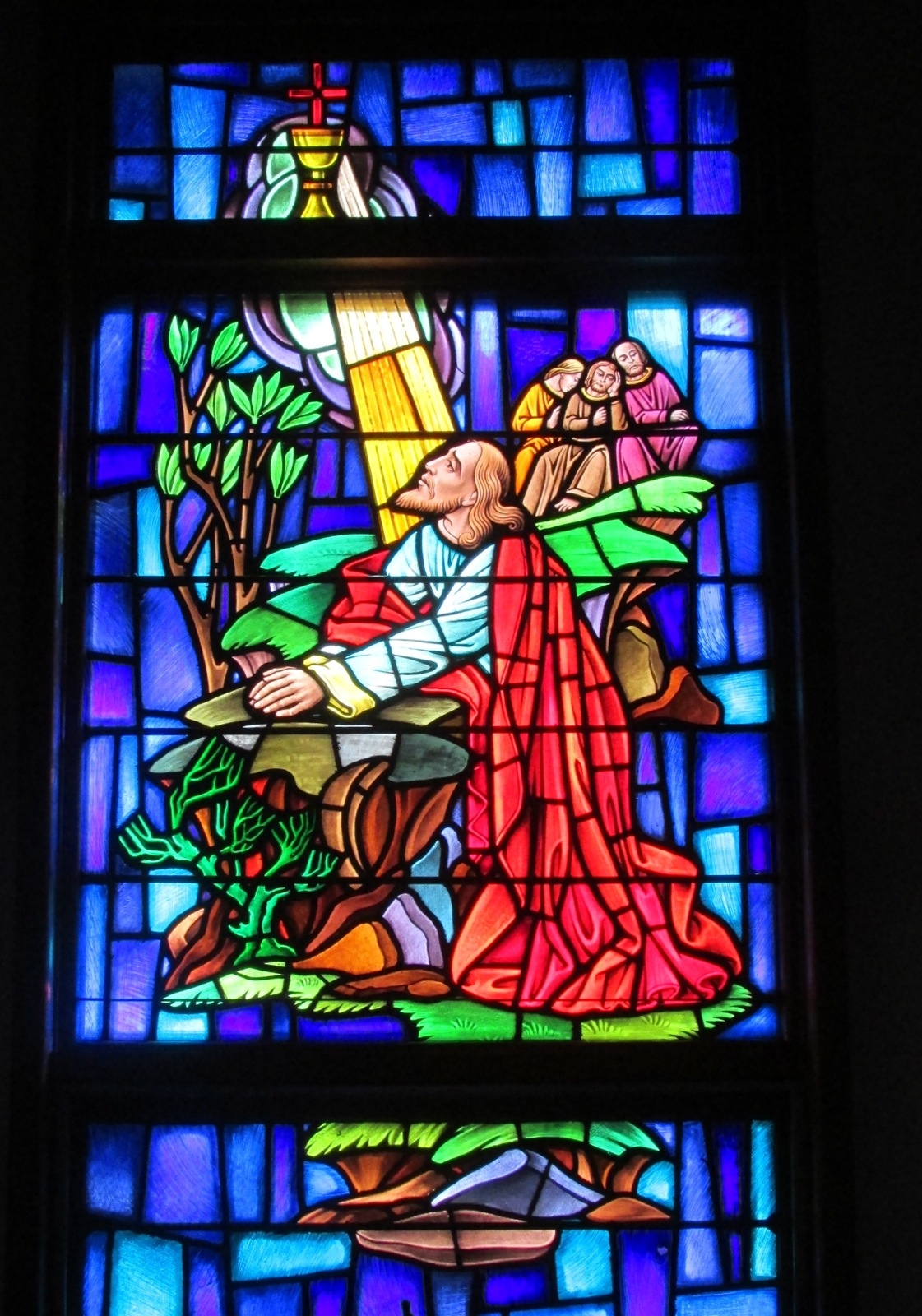 Sea Isle City Methodist Church stained glass window in garden of gethsemane