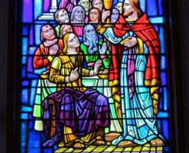 Sea Isle City Methodist Church stained glass window last supper