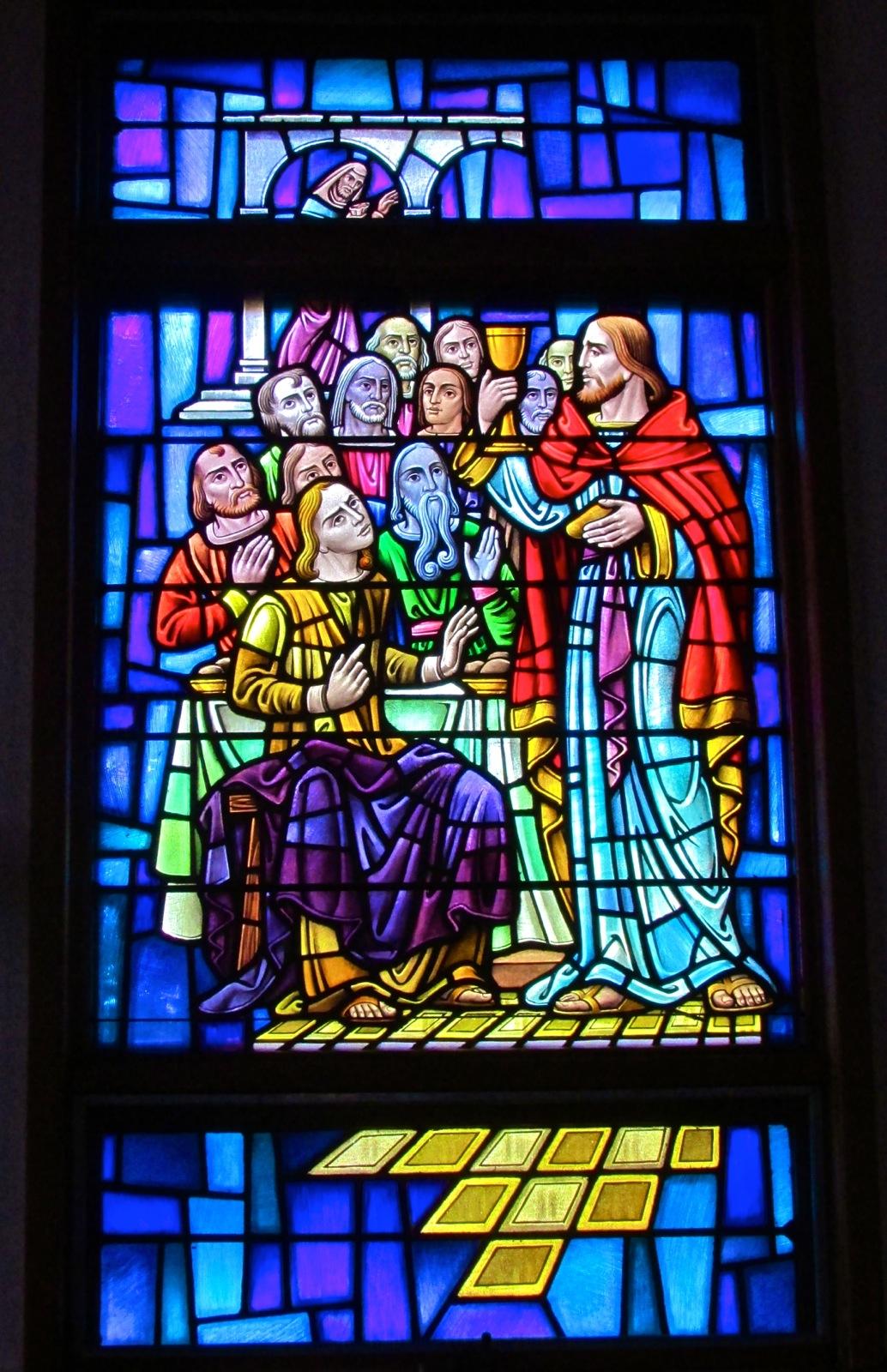 Sea Isle City Methodist Church stained glass window last supper