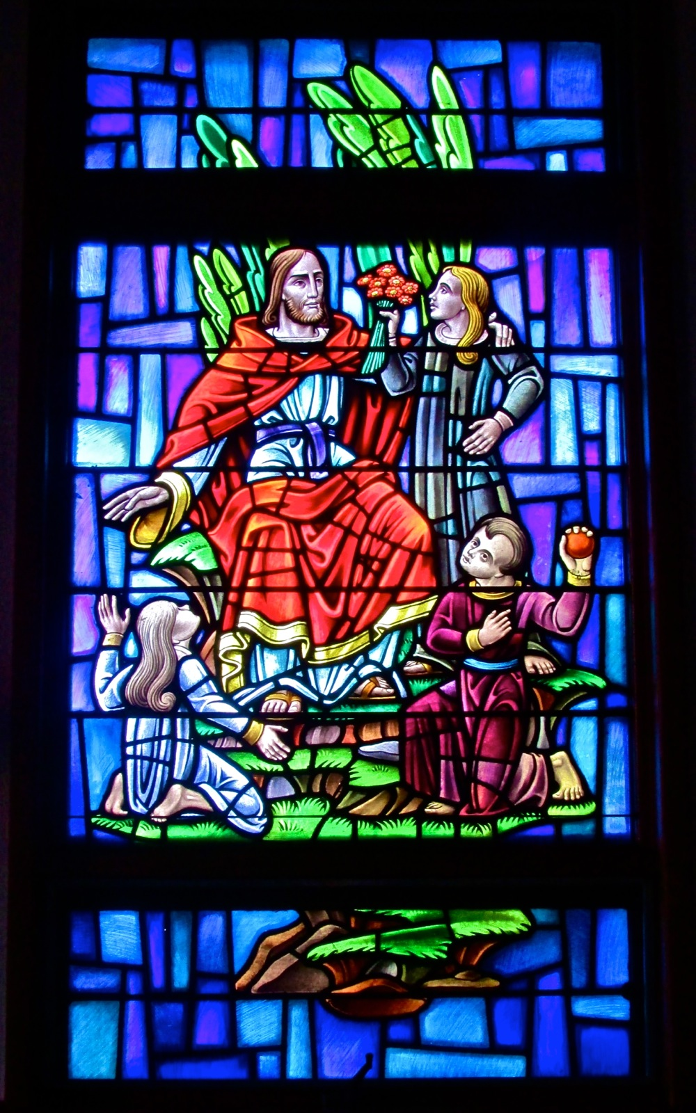 Stained Glass Window suffer the children